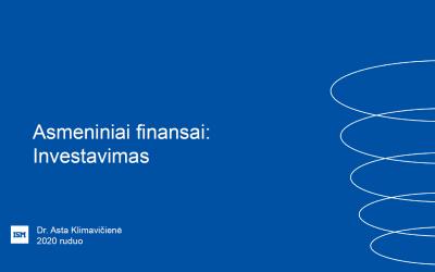 ISM lektorės paskaita apie asmeninių finansų planavimą