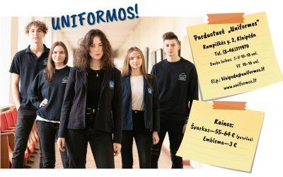 Informacija būsimiems gimnazistams dėl uniformų